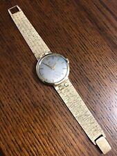 Very Rare Men's Vintage OMEGA 18K Yellow Gold Hand-Winding Watch 1956 Running