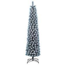 Jaclyn Smith 7' Pre-Lit Colorado Flocked Pencil Pine Christmas Tree - 75