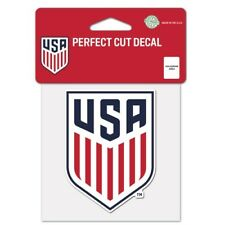 USA Soccer Logo Perfect Cut Decal NEW! FREE SHIPPING! 3x2 Inches Crest USMNT