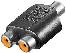 2 Stück Audio Y Adapter Cinchverteiler Chinch Kupplung auf 2* Cinch Buchse