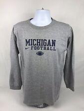 VTG Nike NCAA Michigan Wolverines Football Long Sleeve T-Shirt Size Small