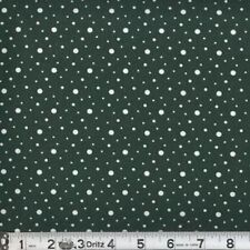 Spot Dots 04 Hunter Green Cotton Quilting Sewing Fabric - BTY