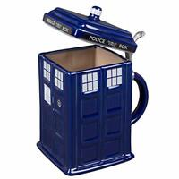 Doctor Who TARDIS Stein - Collectible Ceramic Police Box Mug with Pewter Metal