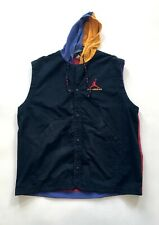 Nike Air Jordan Black Purple Yellow Red Vest Hood Vintage Rare Hip Hop 90s