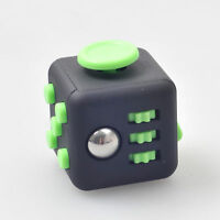 Magic Fidget Cube Anxiety Stress Relief Focus 6-side Gift For Adults Child Black