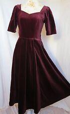 Laura Ashley 40 Samtkleid bordeaux Abendkleid dress velvet 14 burgundy M