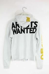New Free City Unisex Lets Go Artist Wanted Print Cotton Zip Sweater Hoodie $168