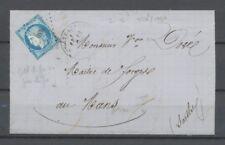 Lettre avec N°60A, 25c. bleu Obl PC du GC 930 + CAD Châteaudun TB. N1455