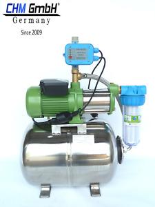CHM GmbH® Hauswasserwerk Edelstahl 1100 Watt Kreiselpumpe + Pumpensteuerung