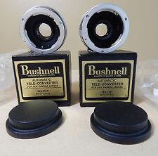 2 VINTAGE BUSHNELL TELE-CONVERTERS 2&3X #23-0117 & 23-0121 FOR MINOLTA W/ BOXES