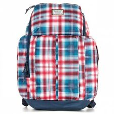 Burton snowboards blue red plaid backpack carry-on school bag luggage