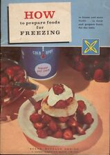 How To Prepare Foods For Freezing 1959 Sears Roebuck Coldspot Freezer Cookbook