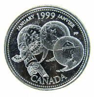 1999 January  Canada 25 Cent  (Error a dot )
