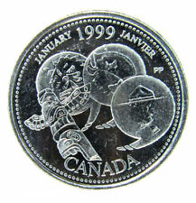 1999 January  Canada 25 Cent  (Filling in the E )