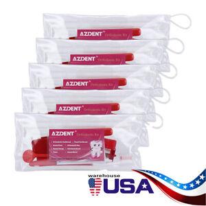 5Kits Dental Ortho Tooth Brush Set Interdental Brush Floss Mirror Travel Kit