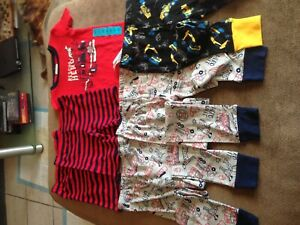 Carters & Kirkland signature boys PJs 4/5 years 3x bottoms 2x shorts 1x top