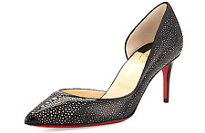 9375ebf06bb7 Christian Louboutin Galupump Laser-cut Red Sole Pump 7962 Black nude Size  38.5
