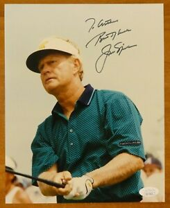Jack Nicklaus Signed 8x10 Golf Photo with JSA COA