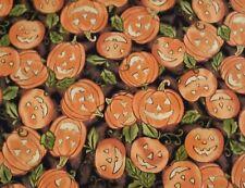 1 Yard October Glow Pumpkins 100% Cotton Fabric BTY Halloween Fall RJR Fabrics