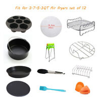 12 Pcs Air Deep Fryer Accessories for Gowise Phillips Cozyna Airfryer 3.7-5.3QT
