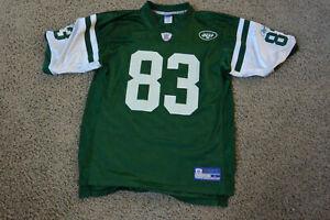 New York Jets Football Jersey Randy Moss #83 Size Adult L By Reebok