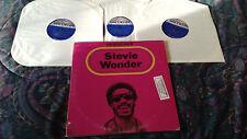 STEVIE WONDER 'LOOKING BACK' 3-RECORD LP SET EXC PROMO COPY MOTOWN