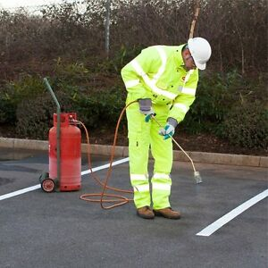 Road & Pavement Marking Permanent Line White Torch-On 50mm, 75mm & 100mm Wide