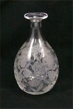 Baccarat, modèle Fontenoy, cristal, roses, adorable petite carafe excellent état