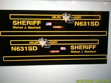 Oakland County Michigan Sheriff    Helicopter Decals 1:72