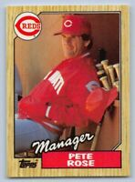 "1987  PETE ROSE  - Topps ""TIFFANY"" Baseball Card # 393 - CINCINNATI REDS"