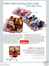 1971 PAPER AD 2 Sided Chilton Toy Tea Sets Buffy Family Affair Fondue Sets