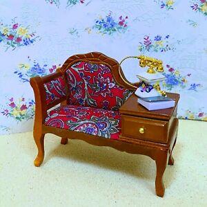 Reutter Porcelain Dollhouse Miniature Gossip Bench / Chair