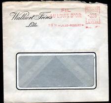 """LILLE-MOULINS (59) USINE de DRAPS / FIL & COTON """"WALLAERT Freres"""" Voyagée en1961"""
