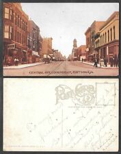 Old Iowa Postcard - Fort Dodge - Central Avenue Street Scene, Looking East