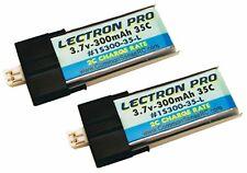 Latest Lectron Pro 35C 300mAh 3.7 volt Lipo Battery 2-Pack for Blade Nano QX 3D