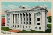 VTG Weld County Court House in Greeley Colorado CO Postcard