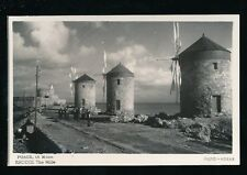 Greece RHODES The Mills c1950/60s? RP PPC