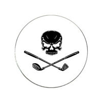 Skull and Crossed Clubs Golf Ball Marker Golf Pirate