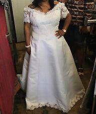 Preowned David's Bridal Plus Size Wedding Dress 22W