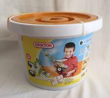 Erector Meccano NEW Build & Play Construction Bucket 15 Models Plastic