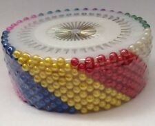 480 pcs Multi Color Round Head Faux Pearl Dressmaking Pin Scarf Sewing Pins