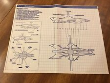1988 GI Joe Cobra Cross Wing Chopper Instructions Blueprints Sheet