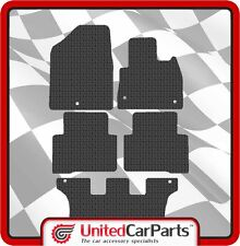 HYUNDAI SANTA FE 7 SEAT (2012-ON) RUBBER CAR MATS & BLACK TRIM GENUINE UCP 2891