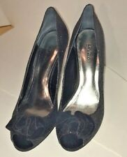 Style & Co. Women's Shoes Heels Black Sparkle Glittery Peep Toe 7M Never worn