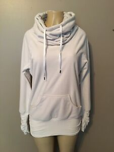 Lululemon Dont hurry be happy cowl neck cream pullover size 8 womens