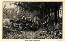 1914 Belgien * Kampf um Antwerpen Deutsche Feldartillerie in Feuerbereit *  WW1