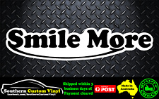Smile More Vinyl Printed Sticker