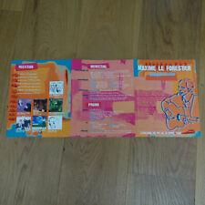 MAXIME LE FORESTIER - LE CAHIER - Plan média /  PRESS/KIT !!!!!!! RARE !!!!!!