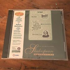 1996 Corel PC CD-ROM~Complete Shakespeare Collection~Windows 95/3.1~NEW + SEALED
