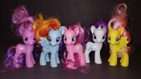 "5 G4 My Little Pony MLP Brushable 3"" Inch Horse Bundle Lot 2011 2010 Ponies D"